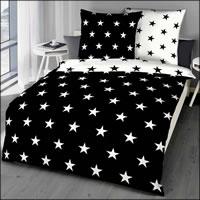 Kaeppel Mako Satin Wende-Bettwäsche Stars 32710 schwarz weiß Sterne