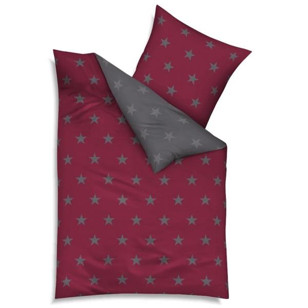 kaeppel biber bettw sche design stars rubin grau 32742. Black Bedroom Furniture Sets. Home Design Ideas