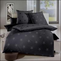 Kaeppel Fein-Biber Wende-Bettwäsche Design Stars zinn 32779 Sterne