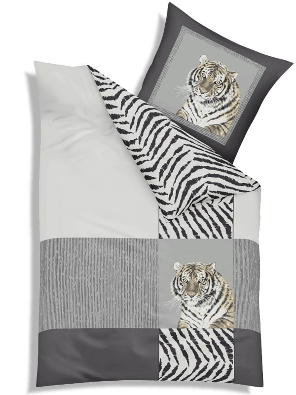 kaeppel biber wende bettw sche 135x200 cm 3479 indian tiger silber safari afrika ebay. Black Bedroom Furniture Sets. Home Design Ideas