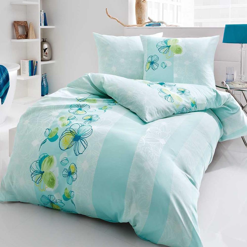 kaeppel mako satin bettw sche 135x200 cm design easy 50553 mint. Black Bedroom Furniture Sets. Home Design Ideas