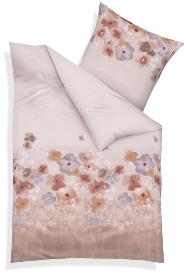 kaeppel biber bettw sche 155x220 cm design 51456 pompom creme blumen. Black Bedroom Furniture Sets. Home Design Ideas