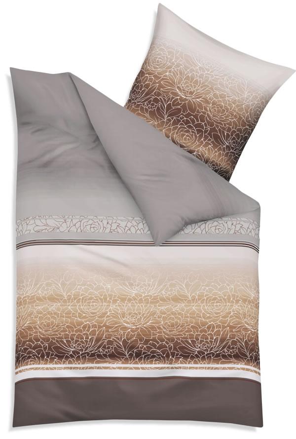 kaeppel biber bettw sche 135x200 cm design 54226 divine mocca blumen. Black Bedroom Furniture Sets. Home Design Ideas