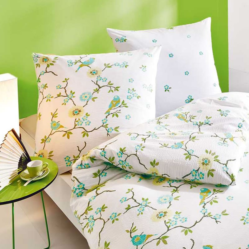 kaeppel seersucker bettw sche 155x220 cm feng shui 5743 wei v gel. Black Bedroom Furniture Sets. Home Design Ideas