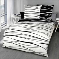 Kaeppel Mako Satin Wende-Bettwäsche Motion 58410 schwarz weiß grau