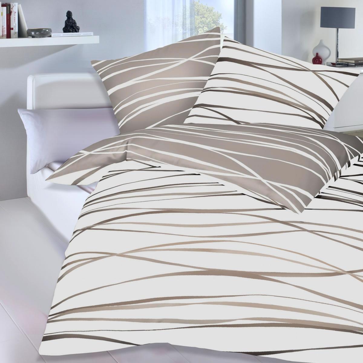 kaeppel mako satin wende bettw sche motion 58446 gestreift natur. Black Bedroom Furniture Sets. Home Design Ideas