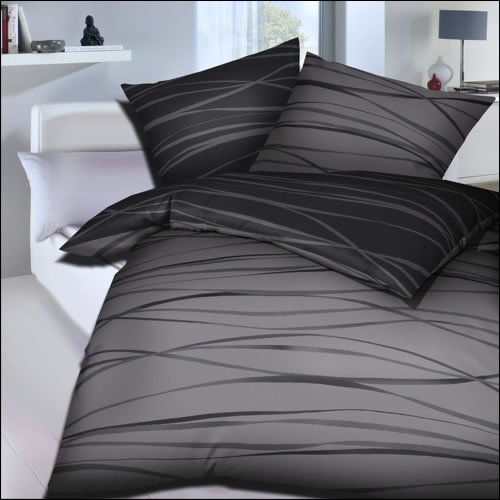 kaeppel mako satin wende bettw sche 135x200 cm motion 58479 zinn grau streifen ebay. Black Bedroom Furniture Sets. Home Design Ideas