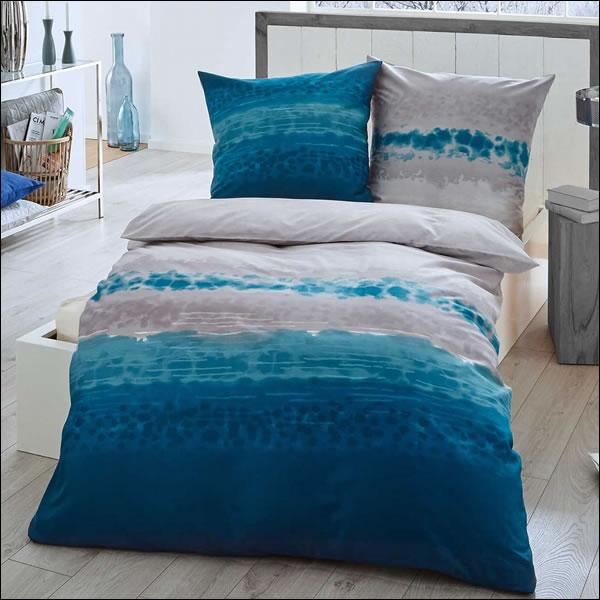 kaeppel mako satin bettw sche 155x220 cm soul 60343 t rkis blau grau silber ebay. Black Bedroom Furniture Sets. Home Design Ideas