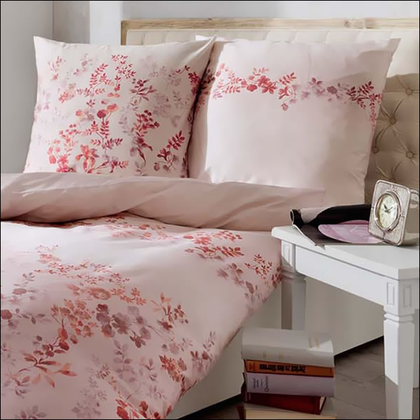 kaeppel mako satin bettw sche 155x220 cm celia 60815 rosa zartrosa bl ten blumen ebay. Black Bedroom Furniture Sets. Home Design Ideas