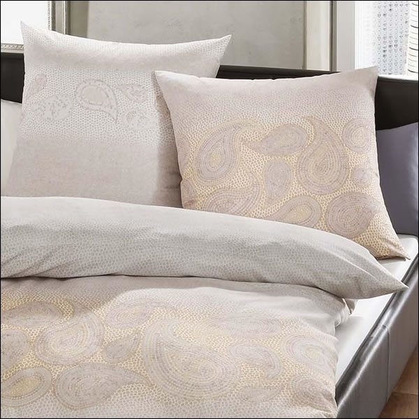 kaeppel biber bettw sche 155x220 cm design 64124 soraya gold paisley natur ecru ebay. Black Bedroom Furniture Sets. Home Design Ideas