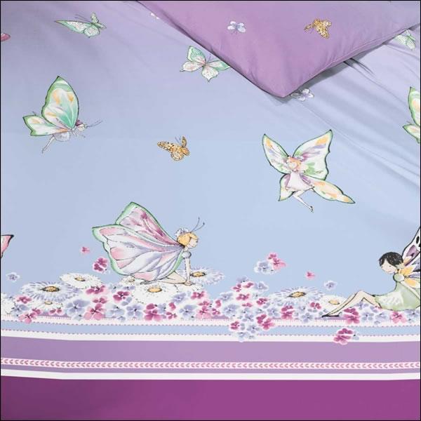 kaeppel biber kinderbettw sche 135x200 cm design 6815 lila miss butterfly feen ebay. Black Bedroom Furniture Sets. Home Design Ideas