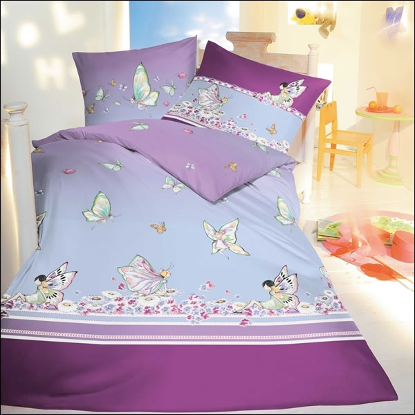 kaeppel biber kinderbettw sche 135x200 cm design 6815 lila miss butterfly feen ebay. Black Bedroom Furniture Sets. Home Design Ideas