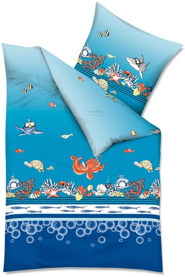 Kaeppel Renforcé Kinderbettwäsche In 135x200 Cm 7811 Unter Dem Meer