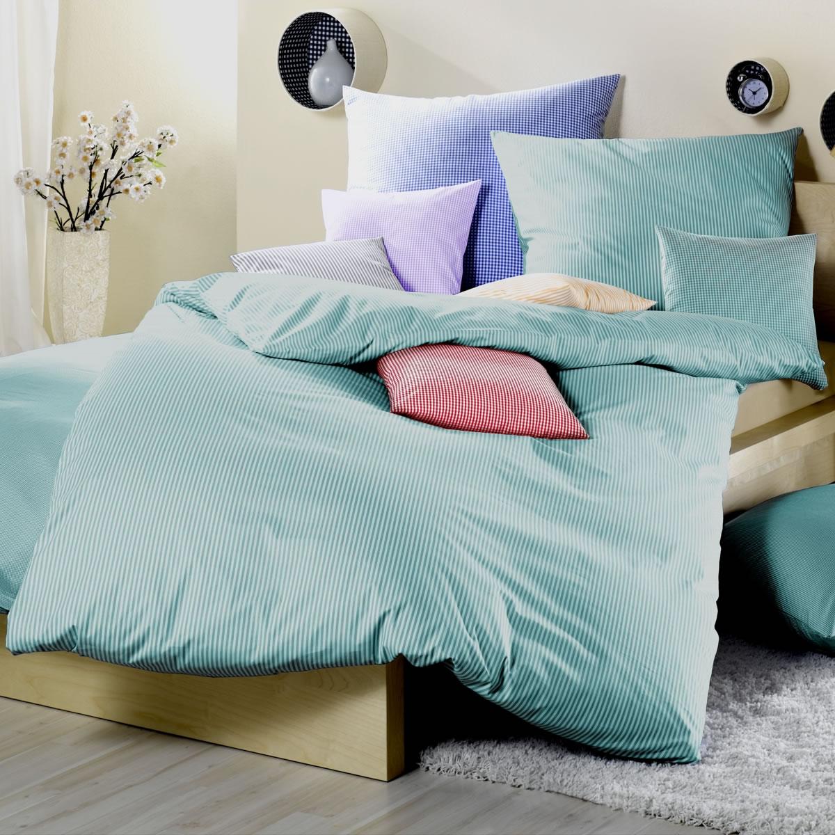 lorena maco batist bettw sche kissenbez ge basel in 026 gr n. Black Bedroom Furniture Sets. Home Design Ideas