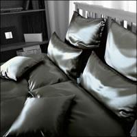 Seidenweber Collection 100% Seiden Bettwäsche Helios Farbe Black S13