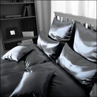 Seidenweber Collection 100% Seiden Bettwäsche Helios Farbe Marine S14