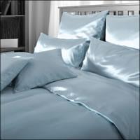 Seidenweber Collection 100% Seiden Bettwäsche Helios Farbe Orient Blue