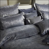 Seidenweber Collection 100% Seiden Bettwäsche Programm Laurel - Marine