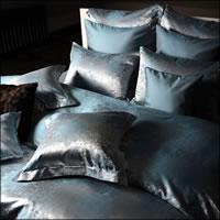 Seidenweber Collection 100% Seiden Bettwäsche Romano - Orient Blue J8