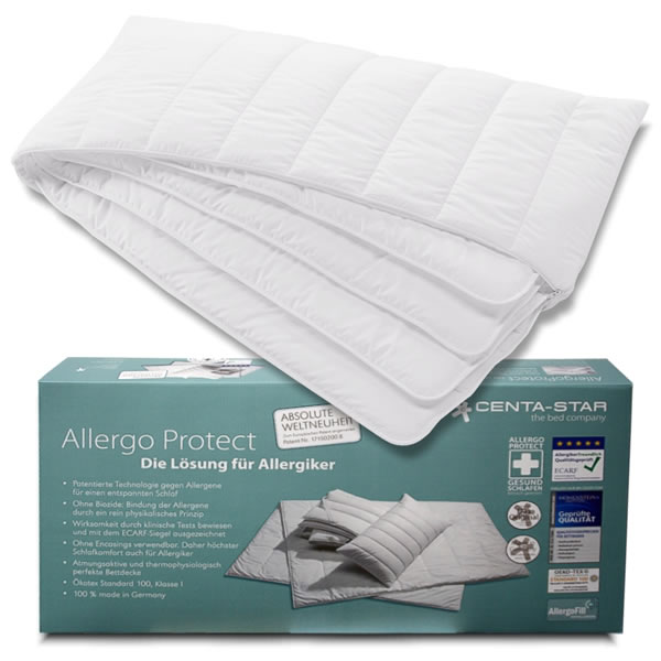 centa star allergo protect kopfkissen in 40x80 cm allergiker kissen ebay. Black Bedroom Furniture Sets. Home Design Ideas