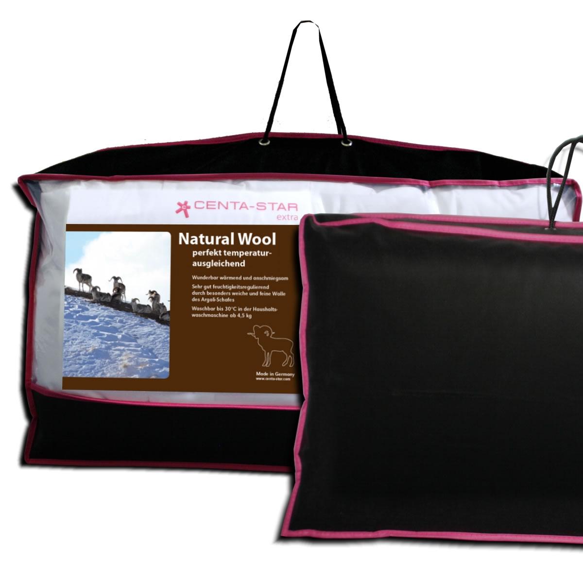 centa star natural wool solo bett 200x200 cm ganzjahresdecke. Black Bedroom Furniture Sets. Home Design Ideas