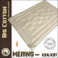 Merino Schafschurwolle Winterdecke aus kbT mit Bezug aus kbA Baumwolle
