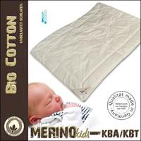 Merino kbT extra leichte Sommerdecke Kinderdecke kbA Baumwoll-Bezug
