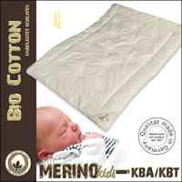 Merino leichte Sommerdecke Kinderdecke kbA Baumwoll-Bezug kbT Wolle