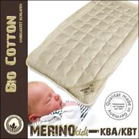 Merino Kinder Auflage / Unterbett  kbA Baumwoll-Bezug und kbT Wolle