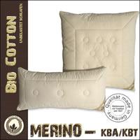 Kopfkissen mit Merino Schafschurwolle aus kbT mit kbA Baumwoll - Bezug
