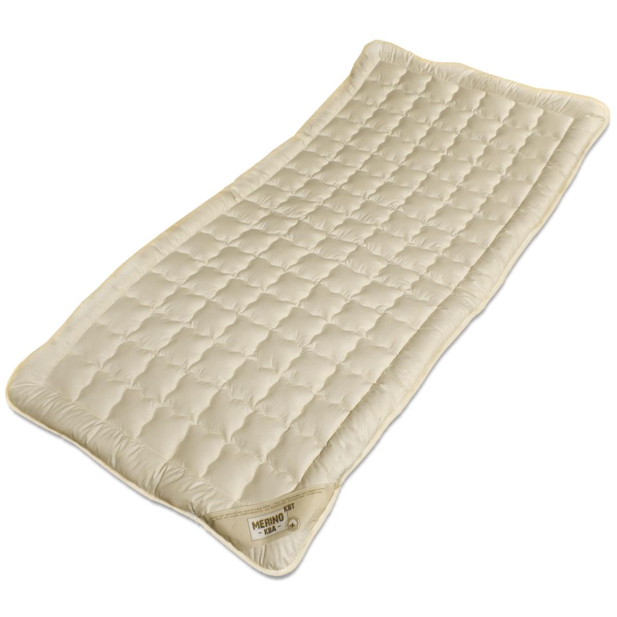 unterbett kbt merino schafschurwoll auflage mit kba baumwoll bezug. Black Bedroom Furniture Sets. Home Design Ideas