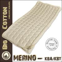 Unterbett kbT Merino Schafschurwoll - Auflage mit kbA Baumwoll - Bezug