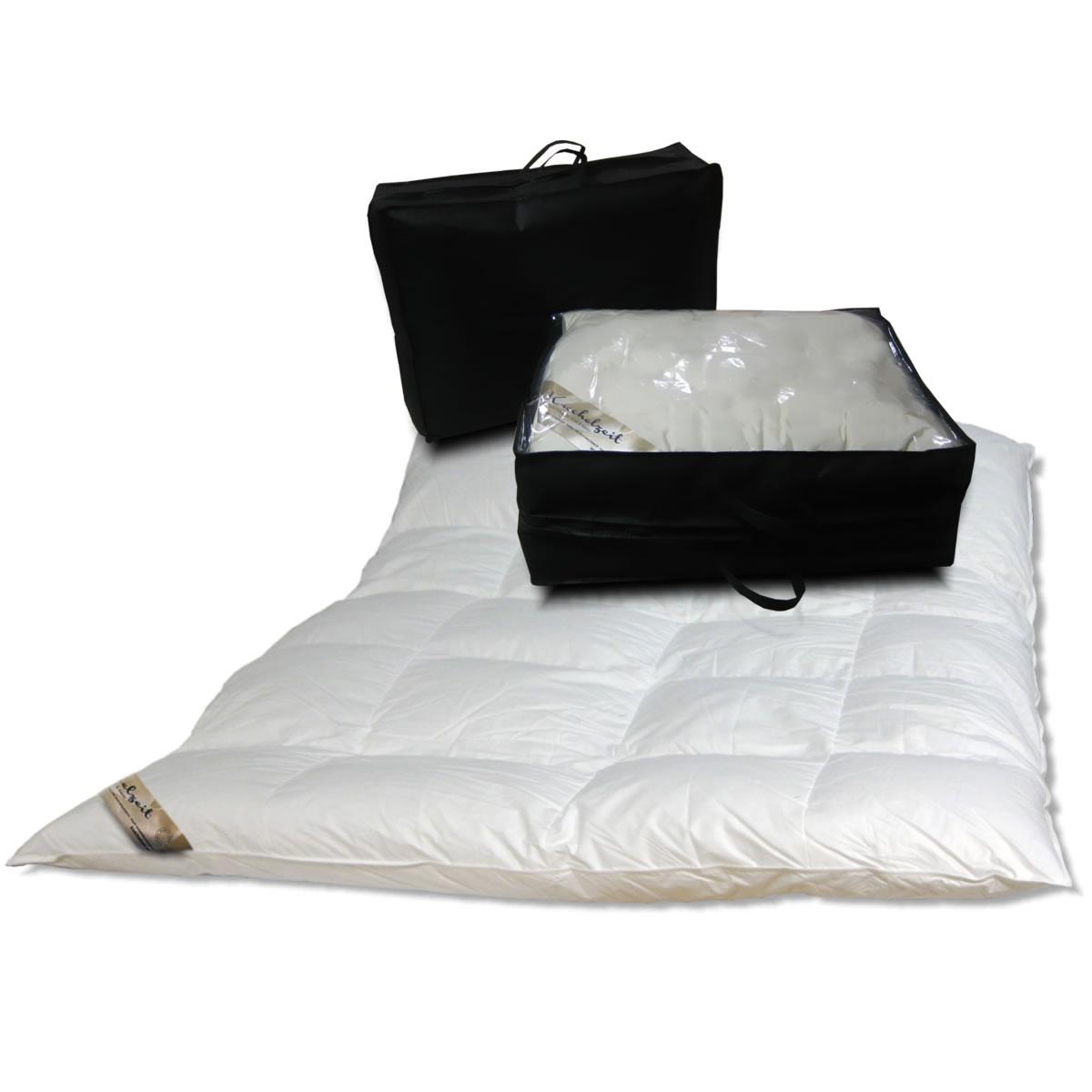daunendecke 155x220 mit 10 cm innensteg 90 daunen und 10 federn. Black Bedroom Furniture Sets. Home Design Ideas