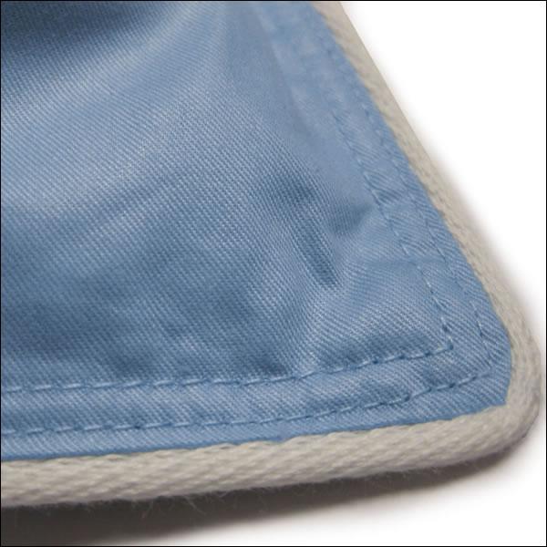 Ballonbett Feder-Bett 135x200 blau Winter-Decke 100/% weiße Gänsefedern Oberbett