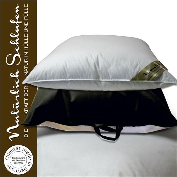 luxus 3 kammer kopfkissen daunenkissen kissen 80x80 mit 1200 g made in germany ebay. Black Bedroom Furniture Sets. Home Design Ideas
