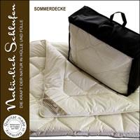 100% Merino Schafschurwolle Sommerdecke Schurwoll Sommerbett Decke
