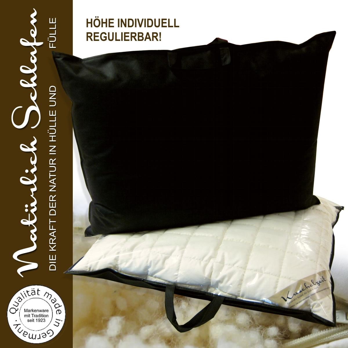 merino kopfkissen mit schafschurwollkugeln schurwolle kissen. Black Bedroom Furniture Sets. Home Design Ideas