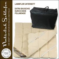Lammflor Unterbett mit Merino Schafschurwolle Füllung versch. Größen
