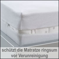 BNP Bed Care Rundumbezug comfort Matratzenbezug Frotteebezug