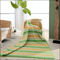 Biederlack Wohndecke 150x200 cm gestreift grün 100% Baumwolle 691620