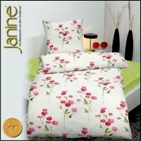 3 tlg janine mako soft seersucker bettw sche 200x200 cm 2652 01 rosa. Black Bedroom Furniture Sets. Home Design Ideas