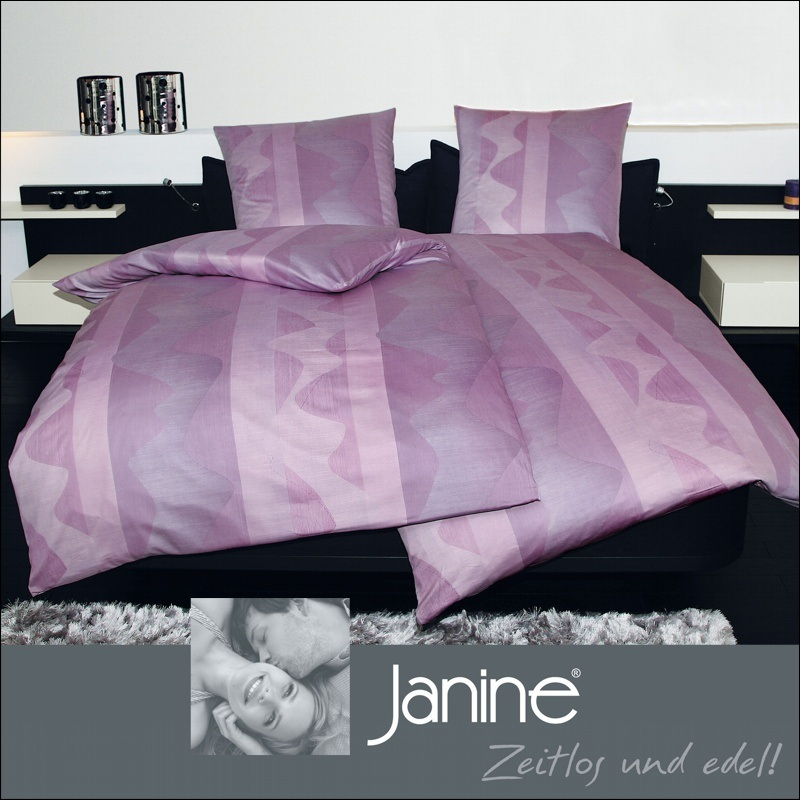 janine mako satin bettw sche 240x220 cm monza 3763 05 ebay. Black Bedroom Furniture Sets. Home Design Ideas
