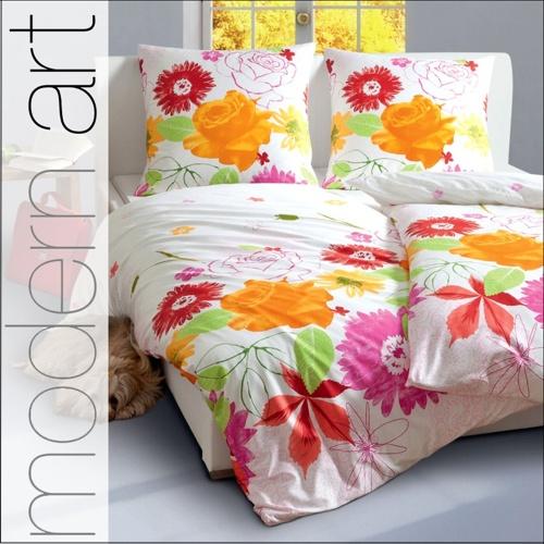 janine mako satin bettw sche 200x220 cm modern art 4100 04 blumen. Black Bedroom Furniture Sets. Home Design Ideas