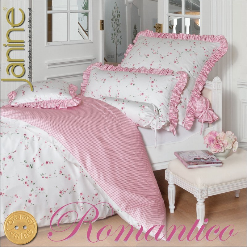 janine mako satin kissenbezug oder bettw sche romantico 4687 05 wendebettw sche ebay. Black Bedroom Furniture Sets. Home Design Ideas