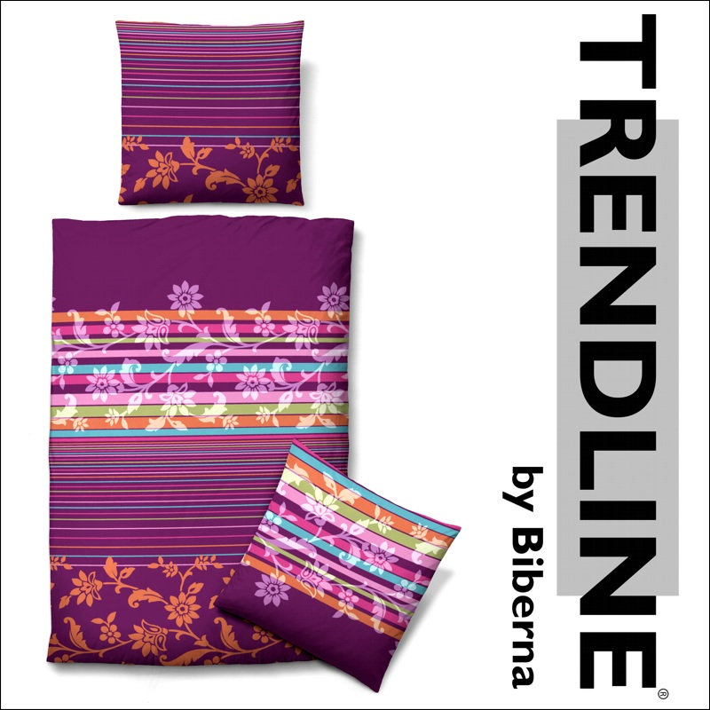4 tlg biberna trendline satin bettw sche 155x220 cm. Black Bedroom Furniture Sets. Home Design Ideas