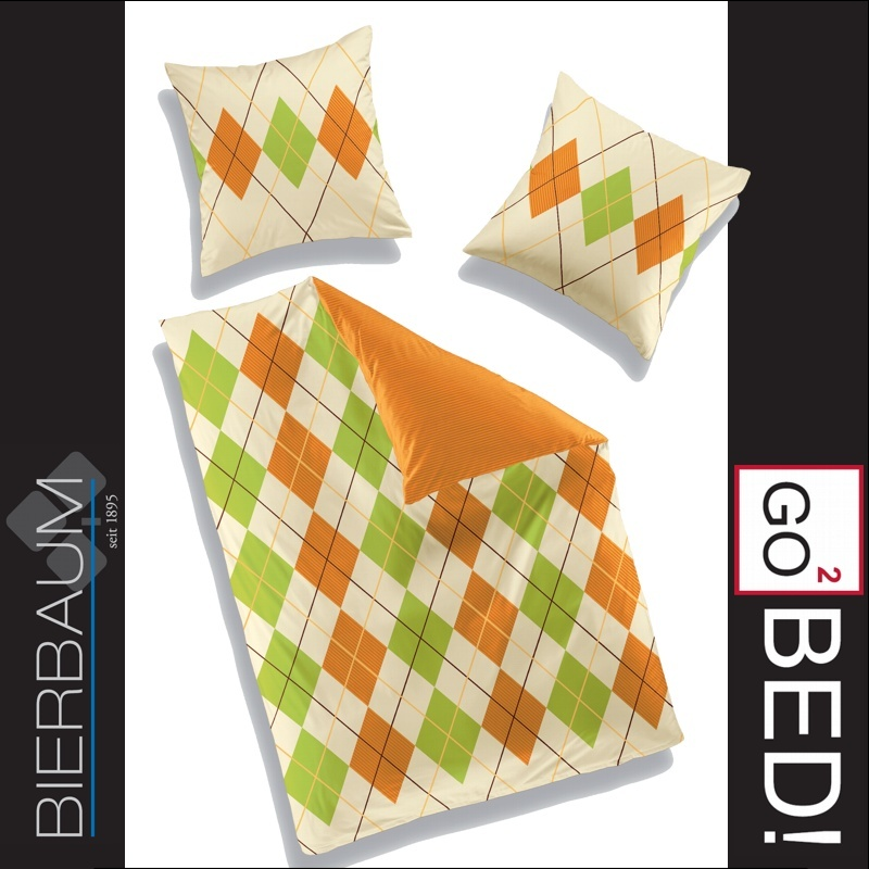3 tlg bierbaum go bed biber bettw sche 200x200 cm dessin 48304 ebay. Black Bedroom Furniture Sets. Home Design Ideas