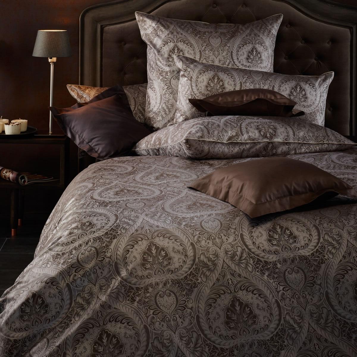 curt bauer mako brokat damast bettw sche anastasia design 2503 1060 quarz ebay. Black Bedroom Furniture Sets. Home Design Ideas