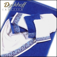 Dyckhoff WASCHHANDSCHUH Made in Germany 233400 Dess. Mosaik Farbe blau