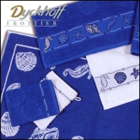 Dyckhoff WASCHHANDSCHUH Made in Germany 379400 blue summer Farbe blau