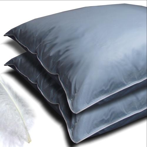 federkissen set 2 kissen 80x80 cm saphir blau kopfkissen 100 federn g nsefedern ebay. Black Bedroom Furniture Sets. Home Design Ideas